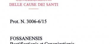 """Decreto di validità dell'istruzione diocesana """"super virtutibus"""""""