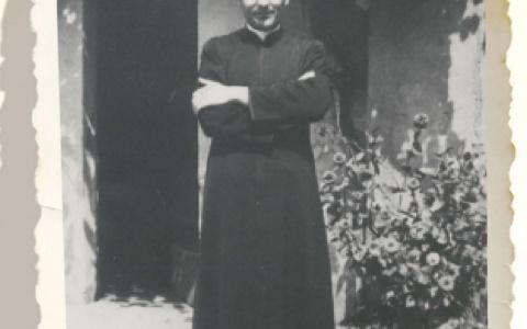 Don Stefano nel giorno dell'ordinazione sacerdotale