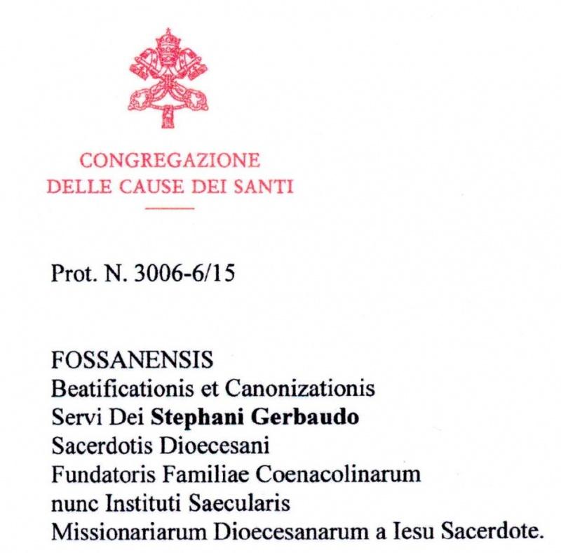 """DECRETO DI VALIDITA' dell'istruzione diocesana """"super virtutibus"""""""