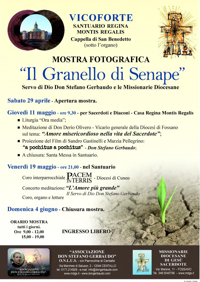 """MOSTRA FOTOGRAFICA  """"Il Granello di Senape""""  Servo di Dio Don Stefano Gerbaudo  e le Missionarie Diocesane"""